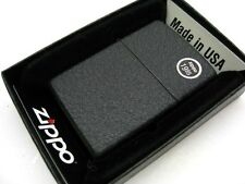ZIPPO Full Size Black CRACKLE Finish Classic Windproof Lighter Model 236 New!