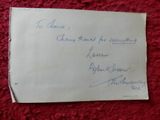ROBERT SHAW AMERICAN CONDUCTOR AUTOGRAPH