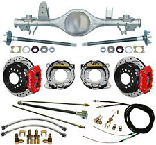 CURRIE 97-06 JEEP WRANGLER TJ REAR END & WILWOOD DRILLED DISC BRAKES,RED CALIPER