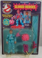 """The Real"" Ghostbusters Slimed Heroes Winston Zeddmore MOC C-8 Unpunched Kenner"