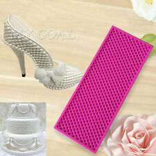 3D Pearl Bead Cake Mould Silicone Fondant Heel Shoe Border Icing Mold Sugarcraft