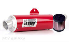 HMF Honda TRX 250EX 2001 - 2010 Red Full Exhaust Muffler & K&N Air Filter