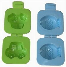 10x Set of 2 Japanese Car & Fish Plastic Egg Mold for Bento Box #1271 S-1975x10