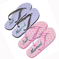 2 x Pairs Gift Set His & Hers Wedding Honeymoon Beach Just Married Flip Flops