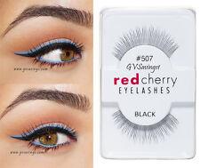 NIB~ Red Cherry #507 False Eyelashes Fake Lashes Black Strip Human Hair