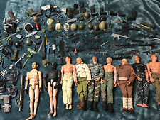 "Large Lot of GI Joe 12"" Inch Figures w/ Guns Clothes HELMETS Accessories"