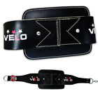 VELO Leather Dipping Belt Body Building Weight Dip Lifting Chain Exercise Black