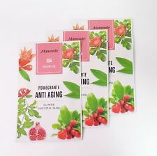 [MAMONDE] Flower ESSENTIAL Mask 3PCS (Pomegrante /Anti Aging)- Korean Cosmetics