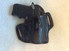 Sig Sauer P238 or P938 Belt Scabbard Leather Holster -  Black - RH