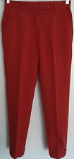 "PRADA WOMEN'S DRESS PANTS-SIZE EU 44-AMERICAN SIZE 30"" WAIST-RED-POLYESTER BLEND"