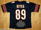 MIKE DITKA-CHICAGO BEARS-Autographed Football Stat Jersey-JSA Authenticated