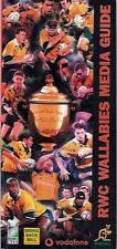 AUSTRALIA 1999 RUGBY WORLD CUP WINNERS MEDIA GUIDE