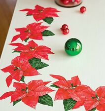 WALLIES POINTSETTIAS wall stickers 10 decals Holiday scrapbook Christmas Flower