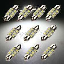 10x 31mm 6 LED 3528 SMD Super White Car Festoon Interior Dome Lights Bulb DC 12V