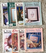 Vintage Books Magazines Cross Stitch Leisure Arts Lot Of 8