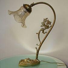 LAMPE ART NOUVEAU BRONZE CHIMERE TETE DE FAUNE JUGENDSTIL TABLE LAMP CHIMERA
