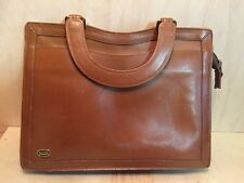 Vintage Phillippe Caramel Leather Briefcase good for small Tablet/Laptop