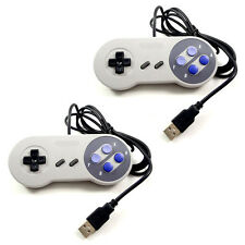Fashion 2pcs SNES USB Gaming Controller GamePad Joystick For Windows PC Mac