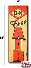 "(DX-STA-1R) 6""X18"" RUSTY LOOKING DX FREE AIR meter decal gas pump oil man cave"