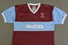 Score Draw West Ham United Home Retro HAMMERS Shirt 1983 SIZE M (adults)