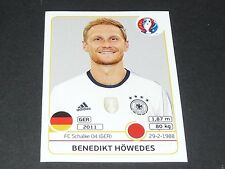 HÖWEDES SCHALKE 04 ALLEMAGNE EXTRA STICKER PANINI FOOTBALL UEFA EURO 2016