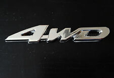 Silver Chrome 3D 4WD Metal Emblem Badge for Jeep Grand Cherokee Wrangler Compass