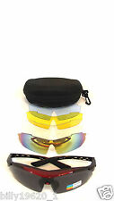 Pro Sport Cycling safety Glasses Sunglasses 5 Lens prescription lens frame  R