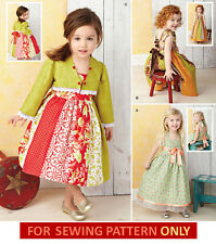 SALE! SEWING PATTERN! MAKE GIRLS FANCY DRESS~BOLERO! SPECIAL OCCASION! 1/2 TO 4