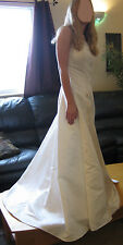 Beaded Beautiful Strapless Antique White Eden Bridal Wedding Dress New NWT 10 12