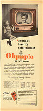 1950-Vintage ad for Olympic Television`Model photo (030115)