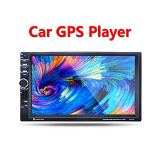 "7"" 2 Din In Dash HD Touch Screen Car MP4 MP5 Bluetooth Player GPS Audio Video"