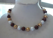 AA fashion 10mm South Sea Multicolor Shell pearl necklace 18 inches long