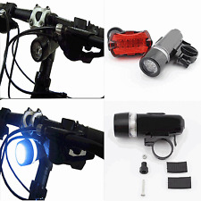 Waterproof 5 LED Lamp Bike Bicycle Front Head Light and Rear Safety FlashlightB