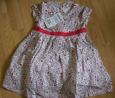 BNWT Jojo Maman Bebe girl 3-6 months party dress white floral 100% cotton