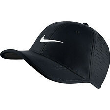 NEW! Black Nike Youth Unisex Ultralight Perforated Adjustable Golf Hat