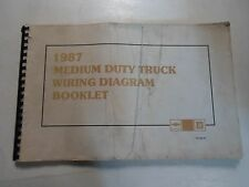 1987 GM Chevy Medium Truck Wiring Electrical Wiring Diagram Manual OEM 1987