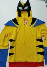 Marvel Comics Wolverine Fleece Hoodie Zip up Face Coat New Large L