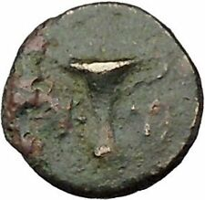 Kyme Cyme in Asia Minor 350BC  Ancient Greek Coin Eagle Vase  i46119