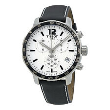 Tissot Men's T0954171603700 Quickster White Dial Swiss Chronograph Soccer Watch