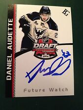 Daniel Audette SIGNED Custom Photo Card SHERBROOKE PHOENIX / MONTREAL CANADIENS