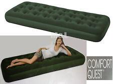 Adulte Vert unique confort troupeau Airbed Camping Gonflable Camp Lit mattess lilo