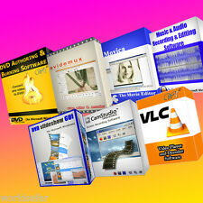 PROFESSIONNEL AUDIO & VIDEO EDITING - MEDIA SOFTWARE BUNDLE - 7 programmes sur 1 CD !