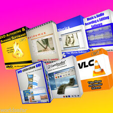 PROFESSIONAL VIDEO & AUDIO EDITING - MEDIA SOFTWARE BUNDLE - 7 PROGRAMS on 1 CD!