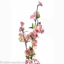 Artificial Spring Blossom Branch 90cm/35 Inch Mid Pink Flower Decoration