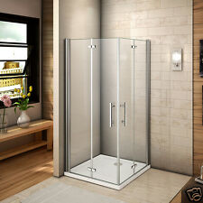 Aica 800x700 Frameless Bifold Shower Enclosure Cubicle Walk In Door Glass Screen