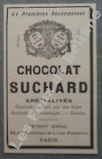 Publicité CHOCOLAT SUCHARD  1900 chocolate advert