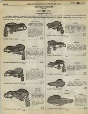 1923 Paper AD Bicycle saddle Seat Saddles Seats Rugby Motor Bike Troxel Tip Top