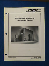 BOSE ACOUSTIMASS 5 SERIES III AM-5P III SPEAKERS SERVICE MANUAL ORIGINAL