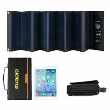 Suaoki 60W Portable Sunpower Mono-crystalline Folding Solar Panel With DC 18V an