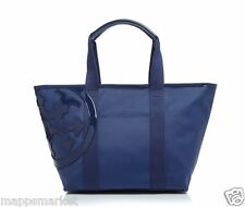 NWT Authentic TORY BURCH Canvas Small Tote Beach Bag in Bright Navy $195
